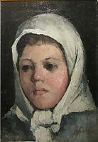 White Headscarf Girl Head, andreescu