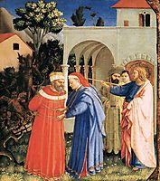 The Apostle St. James the Great Freeing the Magician Hermogenes, 1435, angelico