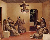 Apparition of St. Francis at Arles, 1429, angelico