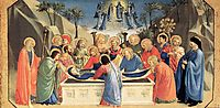 The Burial of the Virgin and the Reception of Her Soul in Heaven, 1435, angelico