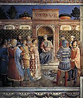 Condemnation of St. Lawrence by the Emperor Valerian, 1449, angelico