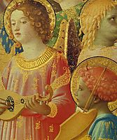 Coronation of the Virgin (detail), 1435, angelico