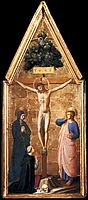 Crucified Christ with the Virgin, St. John the Evangelist and Cardinal Juan de Torquemada, 1442, angelico