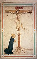 Crucifixion with St. Dominic , c.1442, angelico
