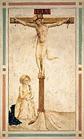Crucifixion with St. Dominic Flagellating Himself , c.1442, angelico