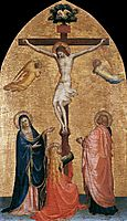 Crucifixion with the Virgin, John the Evangelist, and Mary Magdelene, 1420, angelico