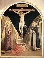 Crucifixion with the Virgin, Mary Magdalene and St. Dominic, 1442, angelico