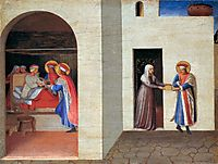 The Healing of Palladia by Saint Cosmas and Saint Damian, 1440, angelico