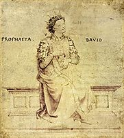 King David Playin a Psaltery, c.1430, angelico