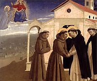 Meeting of St. Francis and St. Dominic, c.1429, angelico