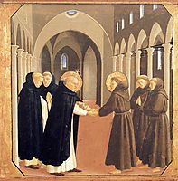 The Meeting of Sts. Dominic and Francis of Assisi, 1435, angelico