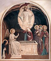 Resurrection of Christ and Women at the Tomb , 1442, angelico