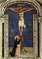 Saint Dominic Adoring the Crucifixion, 1442, angelico