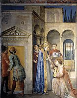 Saint Lawrence Receiving the Treasures of the Church from Pope Sixtus II, 1449, angelico