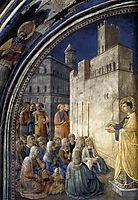 The Sermon of St. Stephen, 1449, angelico