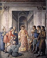 St. Lawrence giving alms, 1449, angelico