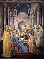 St. Peter Consacrates St. Lawrence as Deacon, 1449, angelico