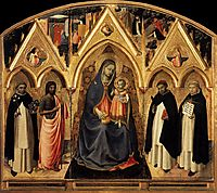 St. Peter Martyr Altarpiece, 1428, angelico