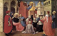St. Peter Preaching in the Presence of St. Mark, c.1433, angelico