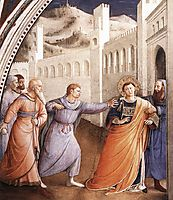 St. Stephen Being Led to his Martyrdom, 1449, angelico