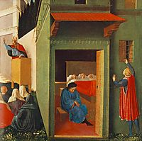 The Story of St. Nicholas: Giving Dowry to Three Poor Girls, 1448, angelico