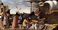 The Story of St. Nicholas: St. Nicholas saves the ship, 1448, angelico