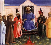 The Trial by Fire of St. Francis before the Sultan, c.1429, angelico