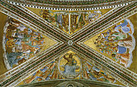 View of the chapel vaulting, angelico