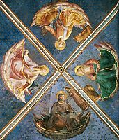 View of the chapel vaulting, 1449, angelico