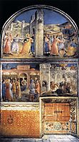 View of east wall of the chapel, 1449, angelico