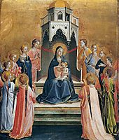 Virgin and Child Enthroned with Twelve Angels, c.1430, angelico