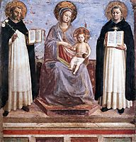 Virgin and Child with Sts. Dominic and Thomas Aquinas, c.1445, angelico
