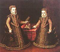 Infantas Isabella Clara Eugenia and Catalina Micaela, 1570, anguissola