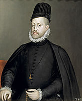Portrait of Philipp II of Spain, 1570, anguissola