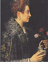 Portrait of a young woman in profile, anguissola