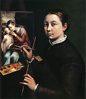 Self-portrait at the easel, 1556, anguissola