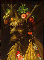 The Four Seasons in One Head, 1590, arcimboldo