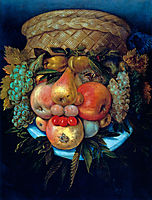 Fruit Basket, 1590, arcimboldo