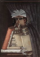 The Librarian, 1566, arcimboldo