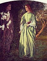 Aurora Leigh-s Dismissal of Romney - (The Tryst), c.1845, arthurhughes