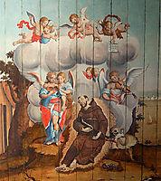 Agonia e Morte de São Francisco, ataide