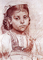 Portrait of a Dalmatian girl, 1885, azbe