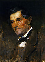 Portrait of a man in a bow tie, 1890, azbe