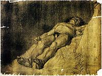 Study of a man, 1886, azbe