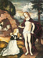 Christ as a gardener (Noli me tangere), 1539, baldung