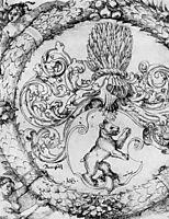 Coat of arms Basler Adelberg III of Bear Rock, Lord Arisdorf, 1526, baldung