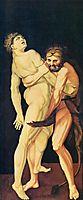 Hercules and Antaeus, 1531, baldung