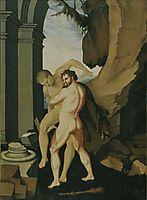 Hercules and Antaeus, c.1530, baldung