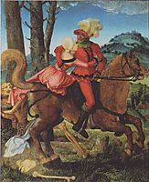 Knight, Death and girl, baldung