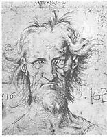 Male head, baldung